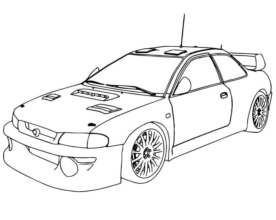 Desenhos de Carro de Corrida para colorir