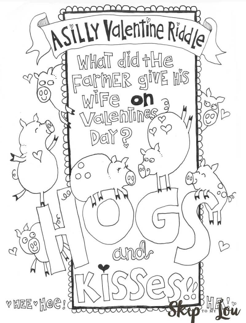 Desenhos de Cartão de Dia dos Namorados para colorir