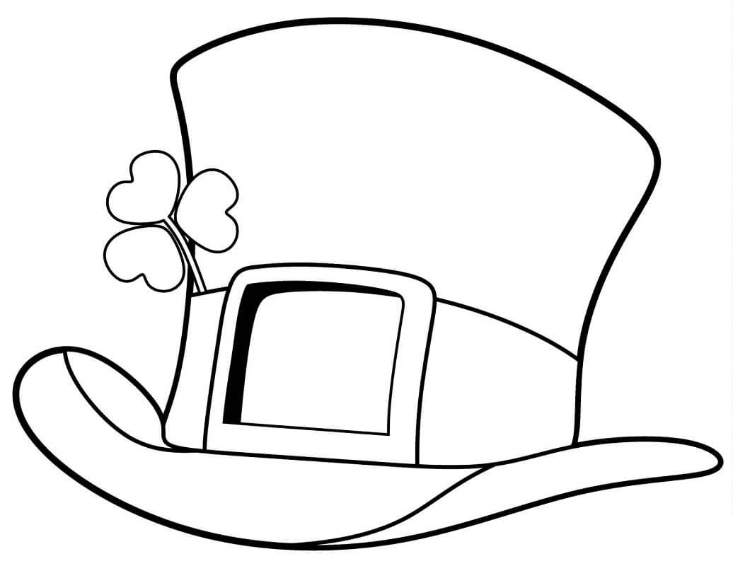 Desenhos de Cartola do Dia de São Patrício para colorir