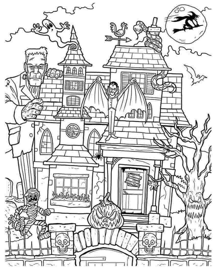 Desenhos de Casa Mal-assombrada para colorir