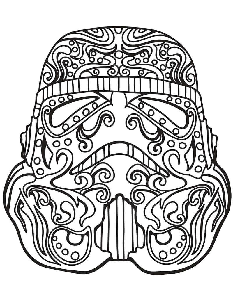 Desenhos de Caveira de Açúcar Stormtrooper para colorir