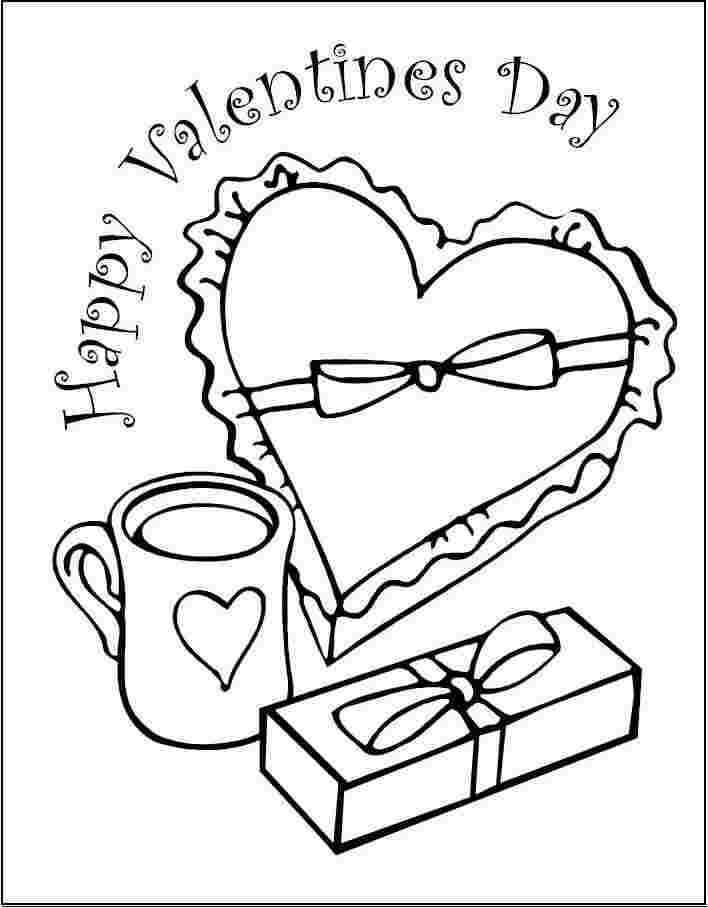 Desenhos de Chocolate dos Namorados para colorir