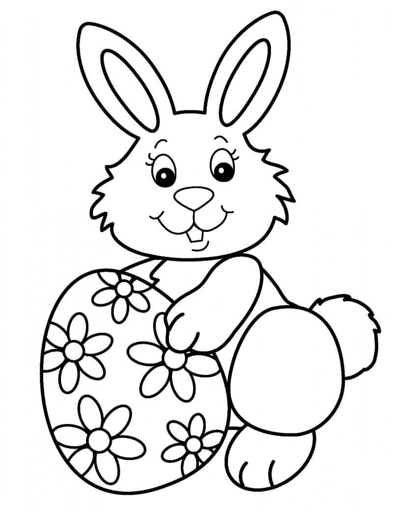 Desenhos de Coelho da Páscoa para colorir