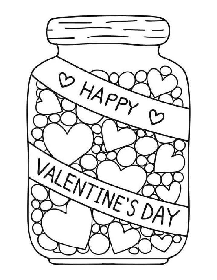 Desenhos de Corações dos Namorados para colorir