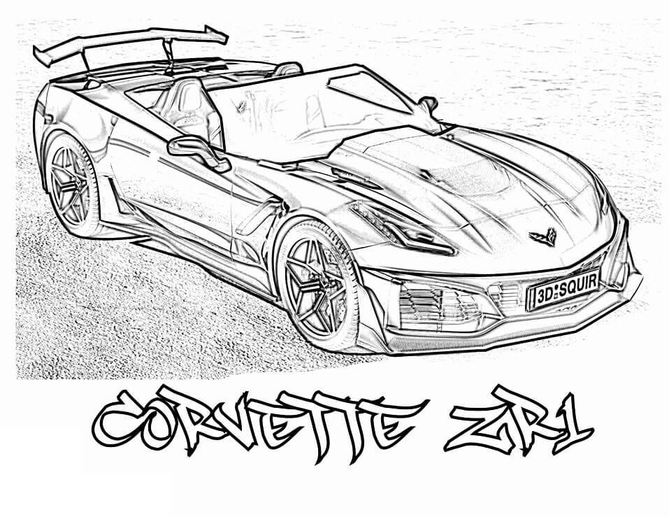 Desenhos de Corvette ZR1 para colorir