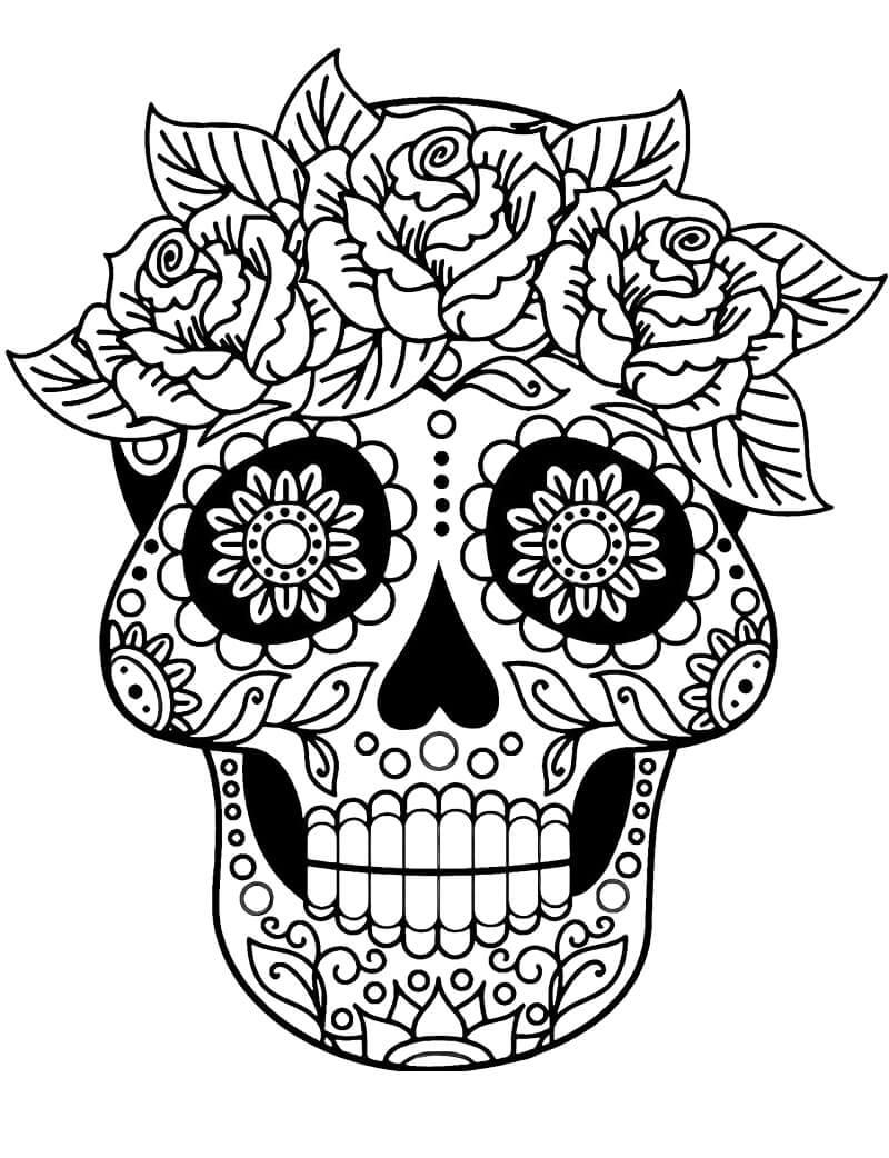 Desenhos de Crânio de Açúcar 1 para colorir