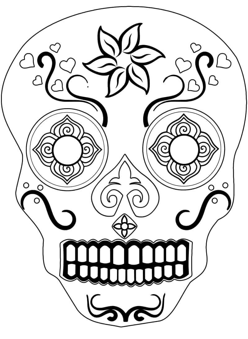 Desenhos de Crânio de Açúcar 2 para colorir