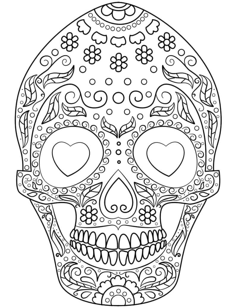 Desenhos de Crânio de Açúcar 3 para colorir