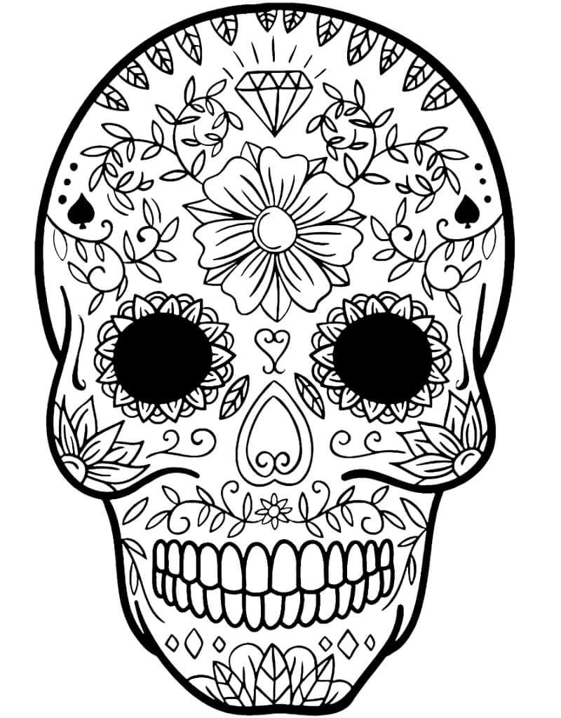 Desenhos de Crânio de Açúcar 4 para colorir