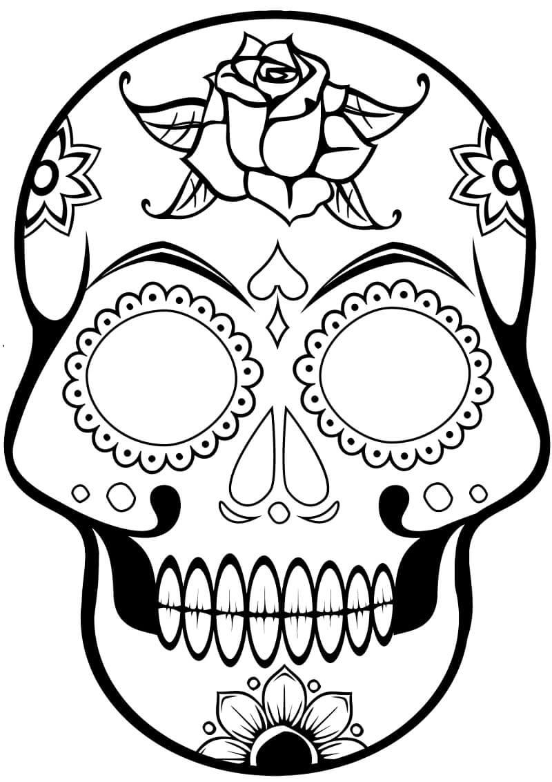 Desenhos de Crânio de Açúcar 5 para colorir