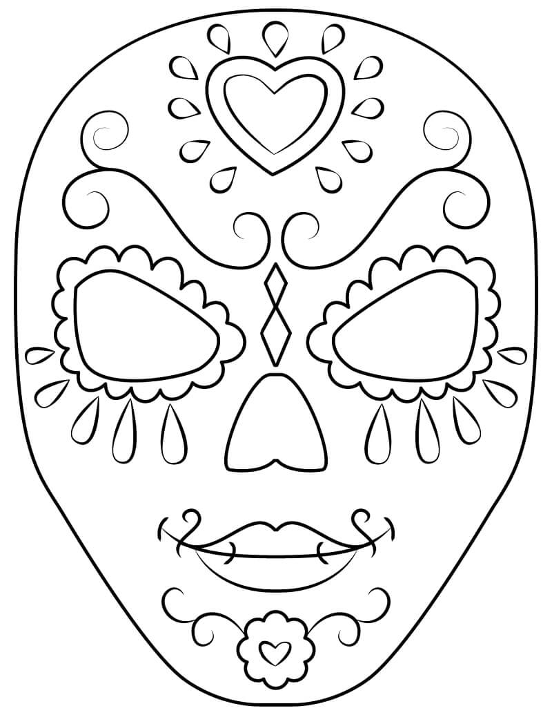 Desenhos de Crânio de Açúcar para colorir