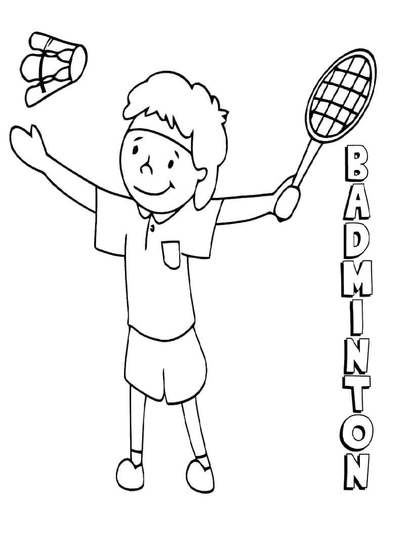 Badminton para Colorir