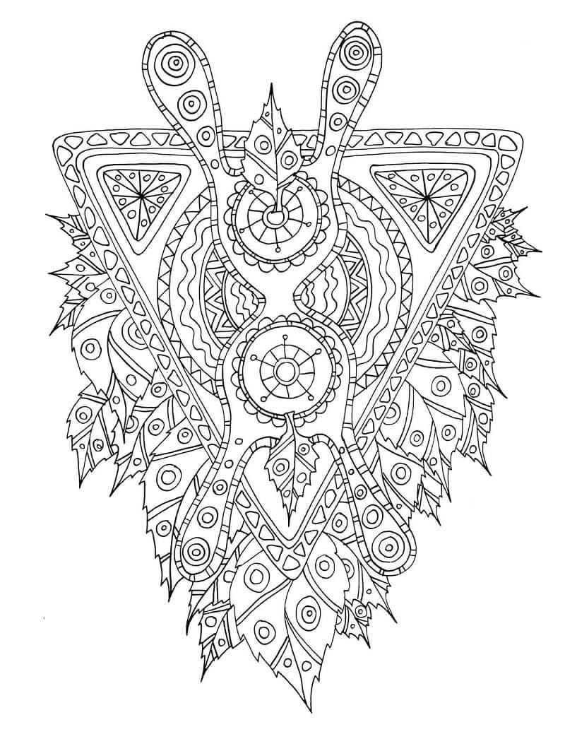 Desenhos de Criatura mítica com padrão tribal para colorir