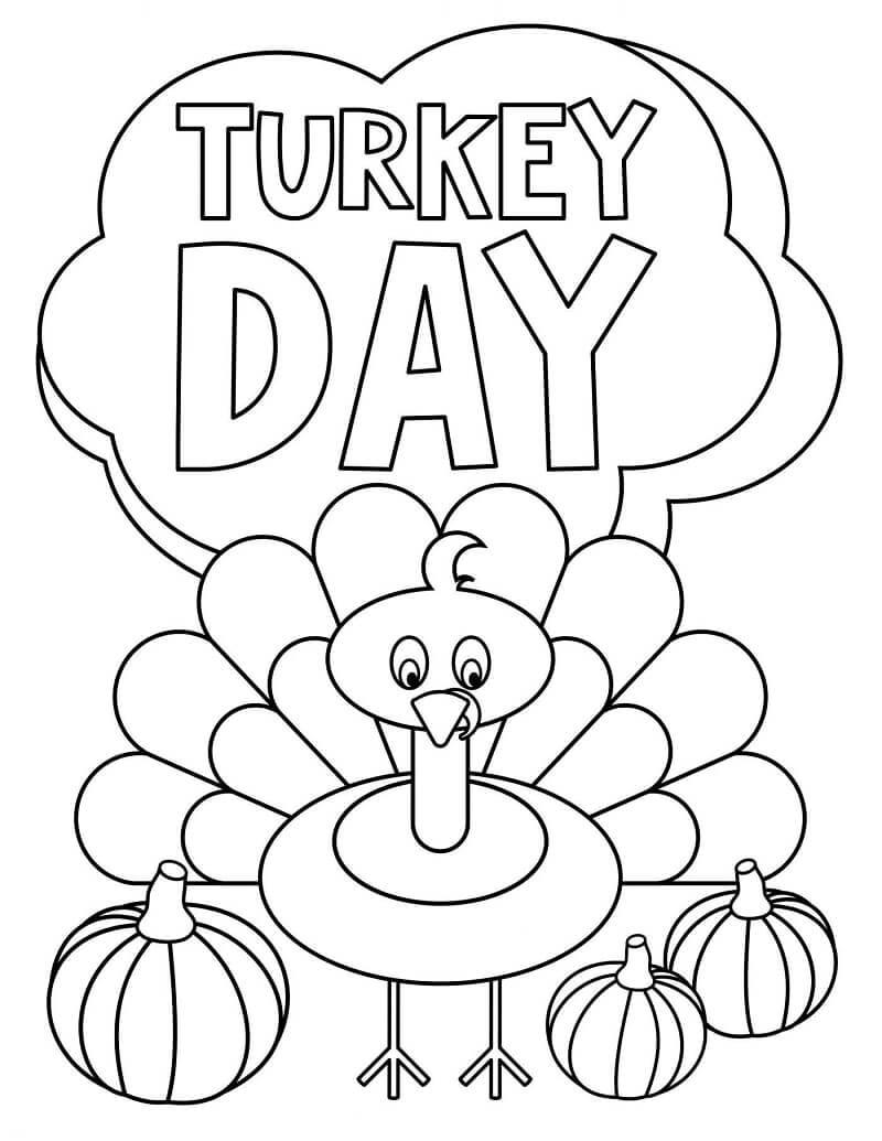 Desenhos de Dia de ação de Graças para colorir