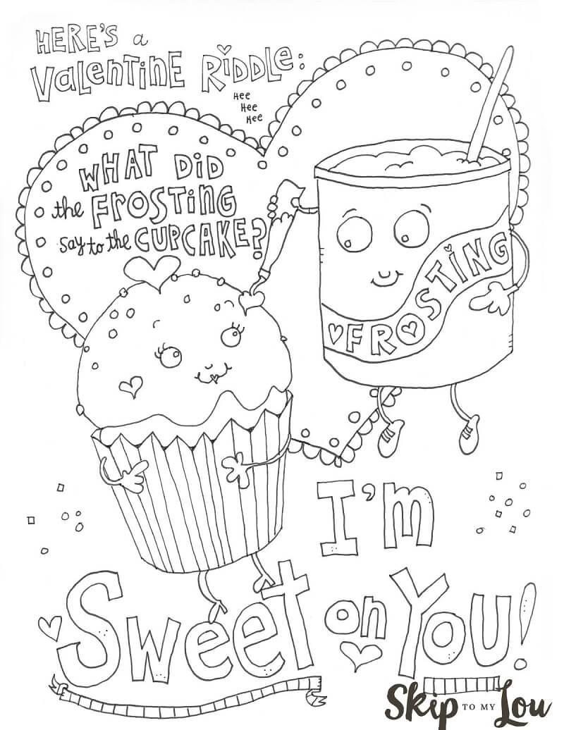 Desenhos de Doce Dia dos Namorados para colorir