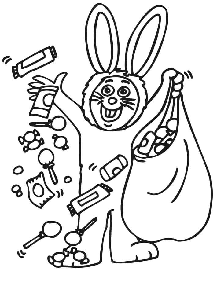 Desenhos de Fantasia de Coelho para colorir