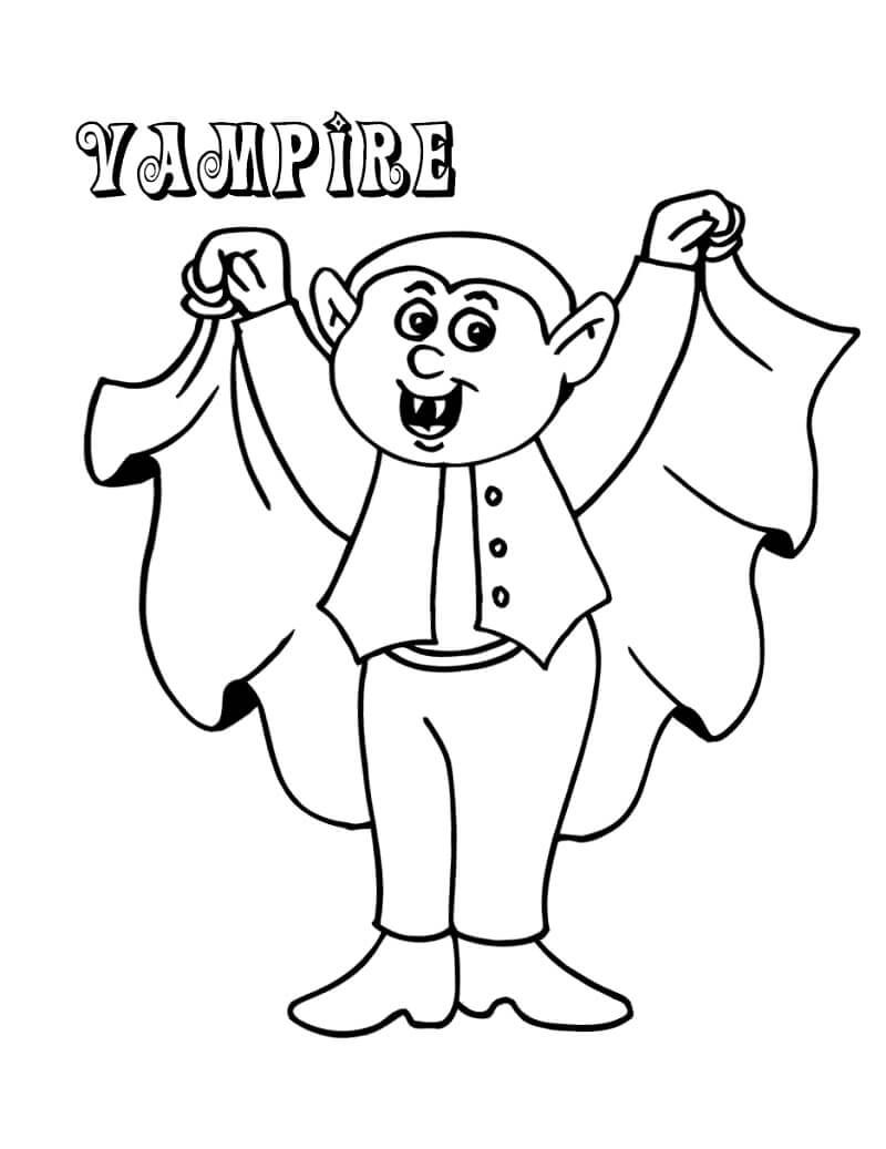 Desenhos de Fantasia de Vampiro para colorir