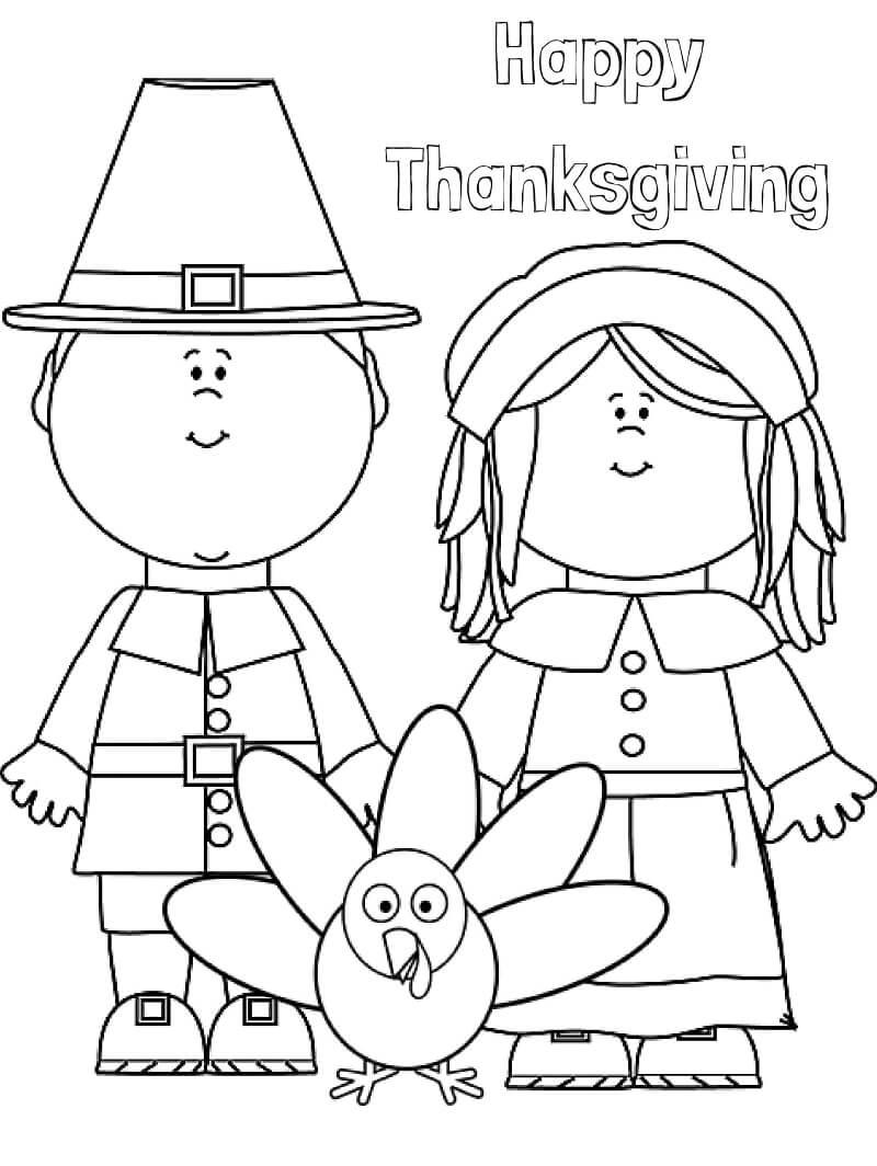 Desenhos de Feliz Dia de Ação de Graças para colorir