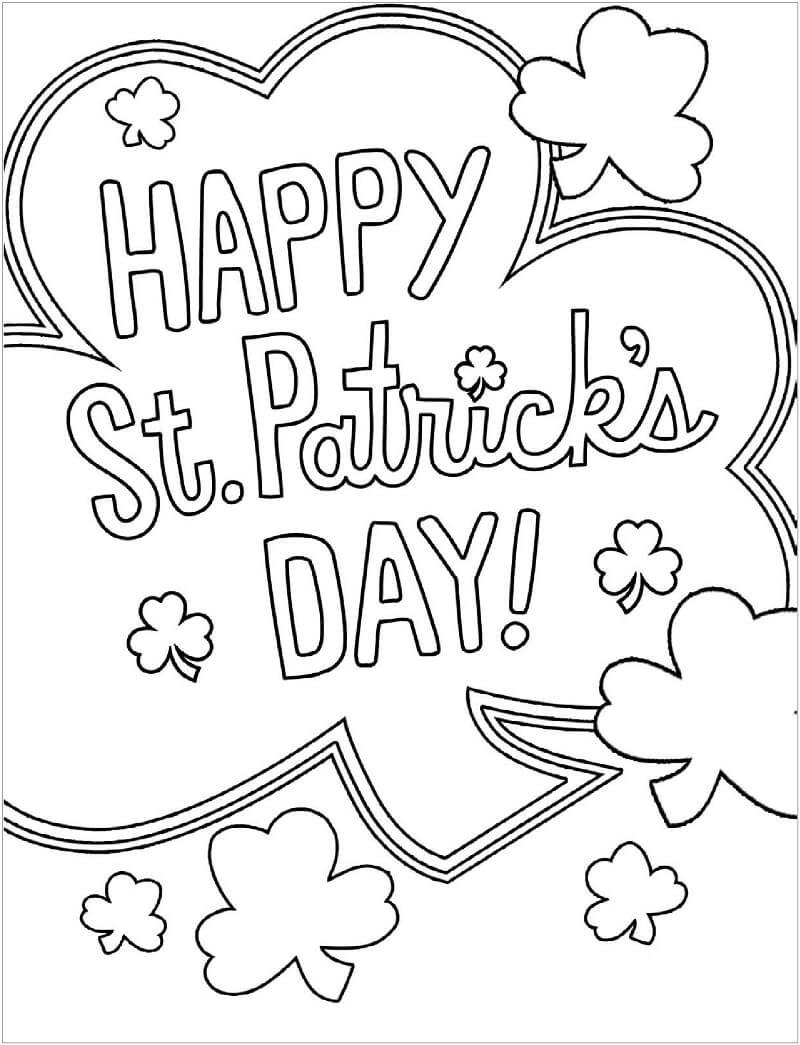 Desenhos de Feliz Dia de St.Patrick 3 para colorir