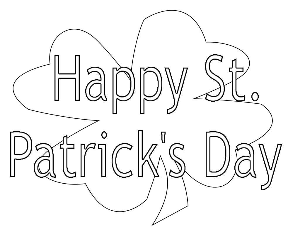Desenhos de Feliz Dia de St.Patrick para colorir