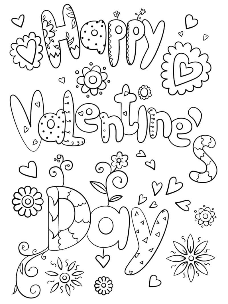 Desenhos de Feliz Dia dos Namorados 2 para colorir