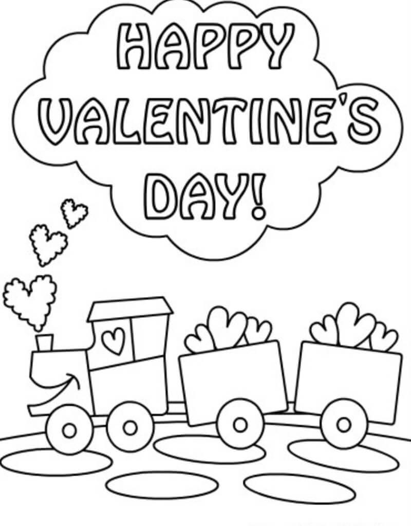 Desenhos de Feliz Dia dos Namorados para colorir