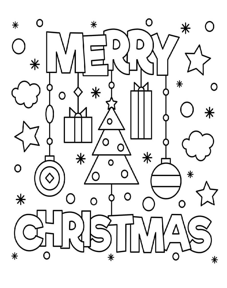 Feliz Natal para colorir 1