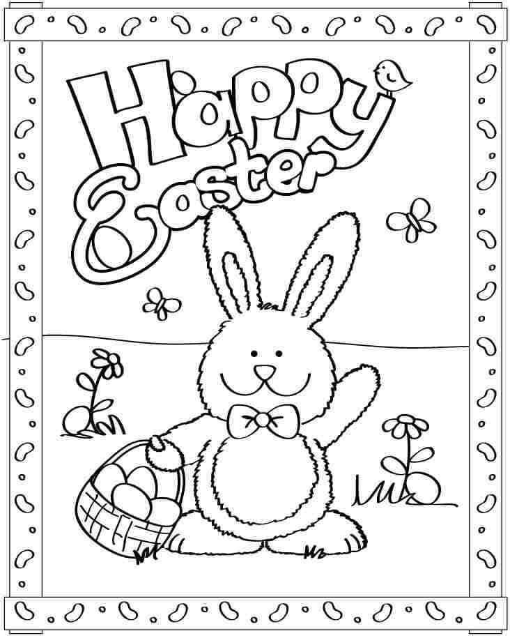 Desenhos de Feliz Páscoa 2 para colorir