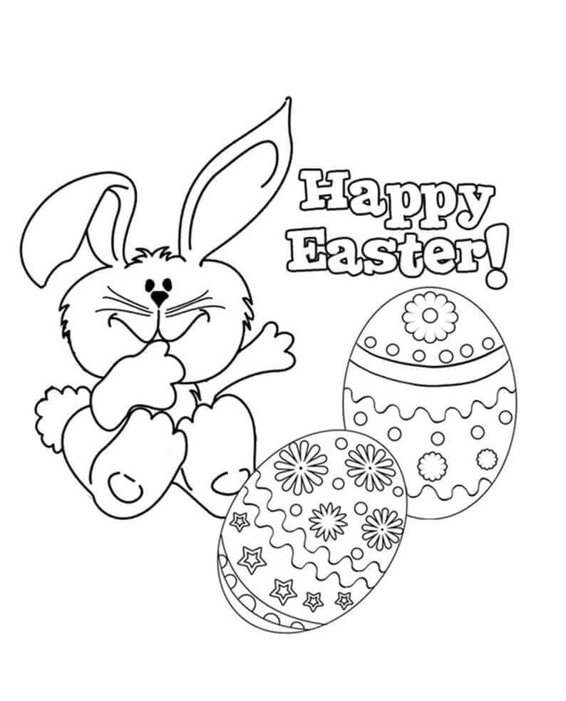 Desenhos de Feliz Páscoa 4 para colorir