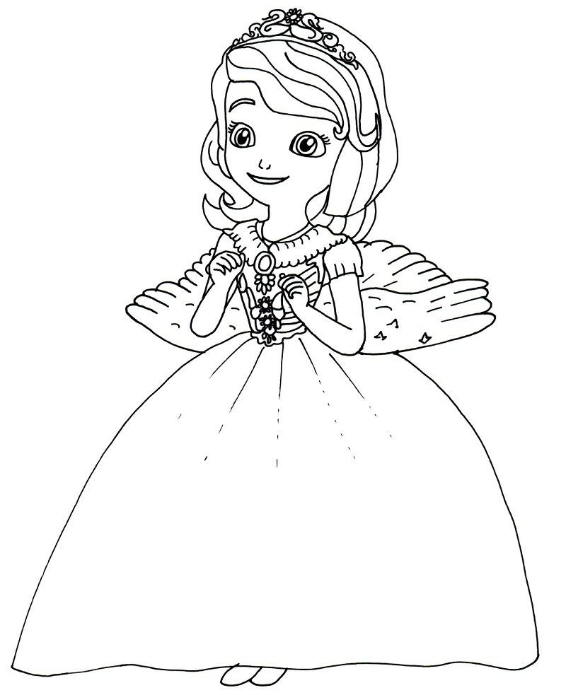 Desenhos de Feliz Sofia para colorir