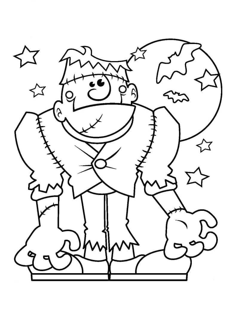 Desenhos de Frankenstein para colorir