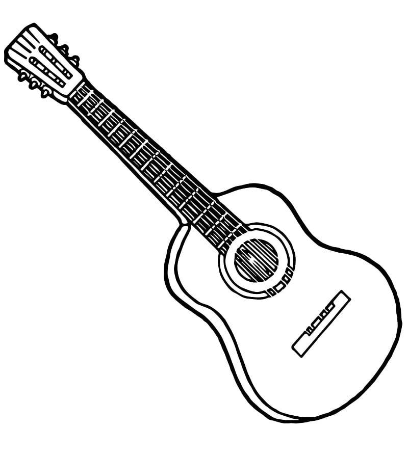 Desenhos de Guitarra Normal 2 para colorir