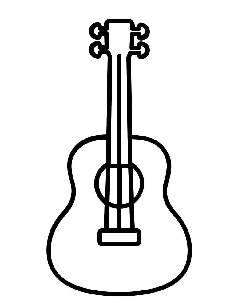 Desenhos de Guitarra Simples 1 para colorir