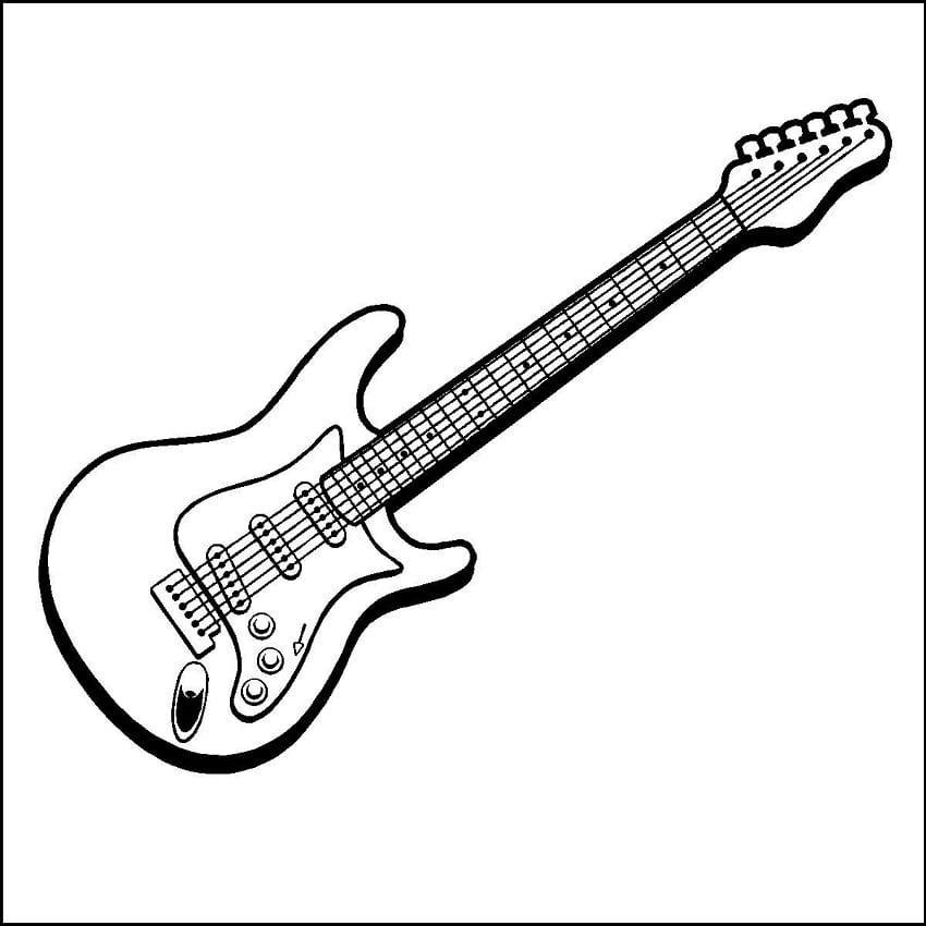Desenhos de Guitarra de Rock para colorir