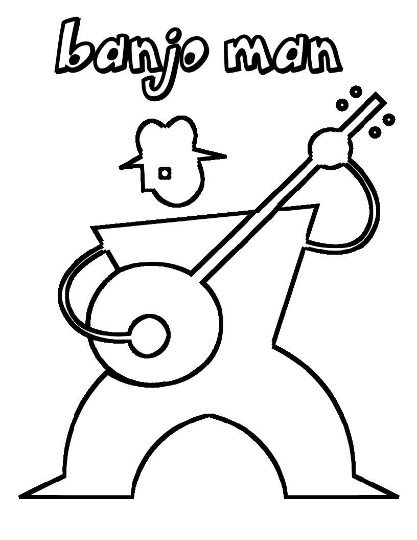 Desenhos de Homem Banjo para colorir