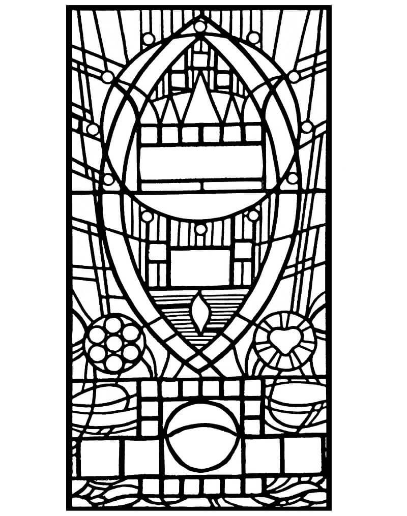 Desenhos de Janela de Vitral 1 para colorir