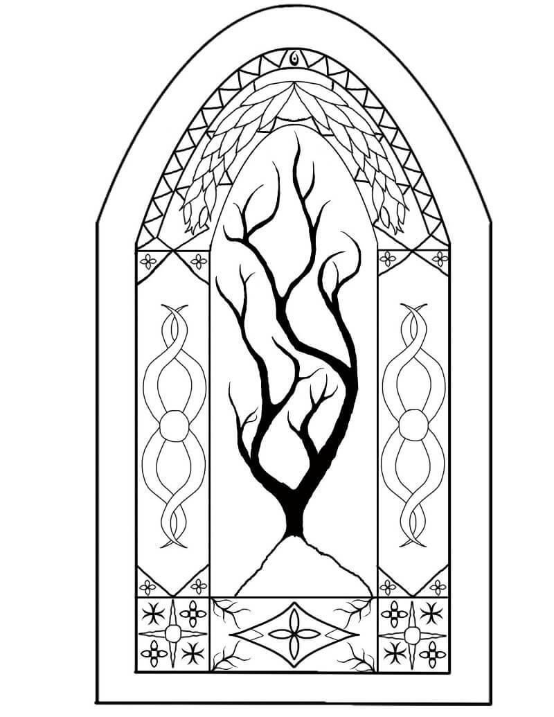 Desenhos de Janela de Vitral 2 para colorir