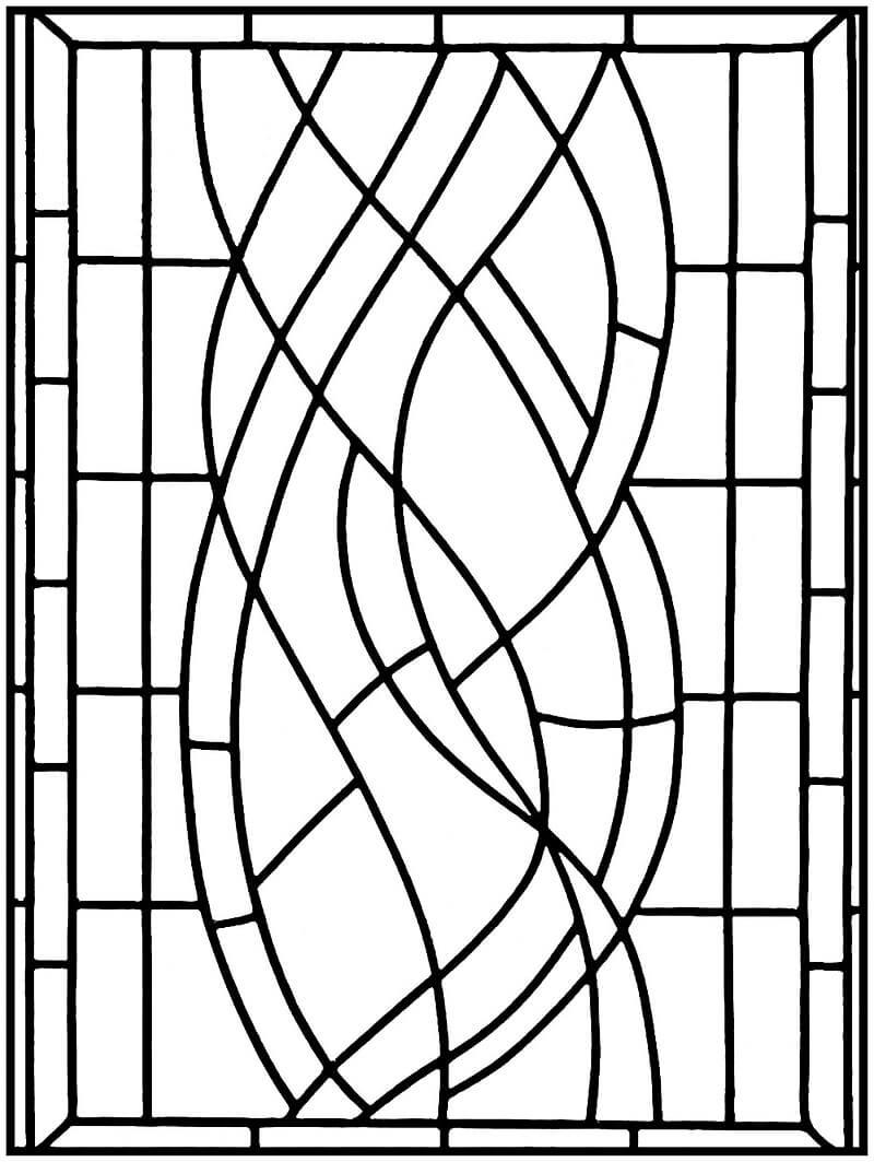 Desenhos de Janela de Vitral para colorir