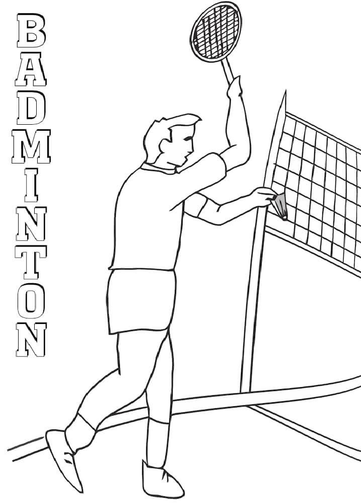 Desenhos de Jogador de Badminton 1 para colorir