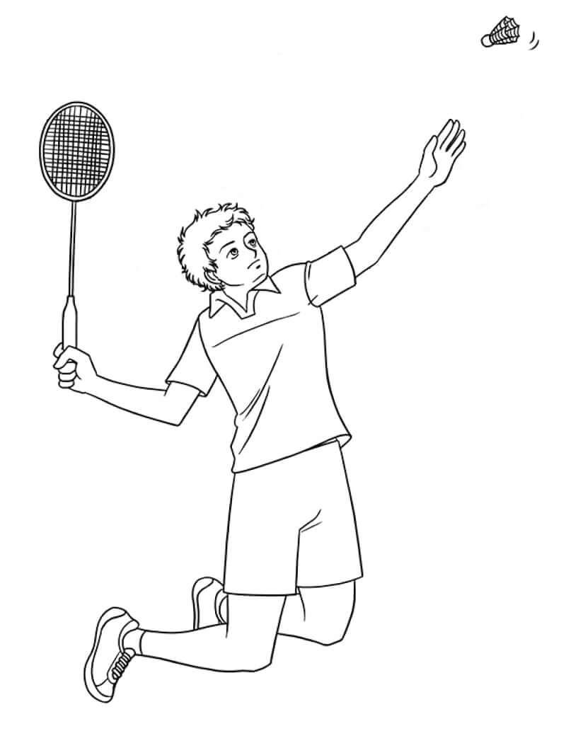 Desenhos de Jogador de Badminton para colorir