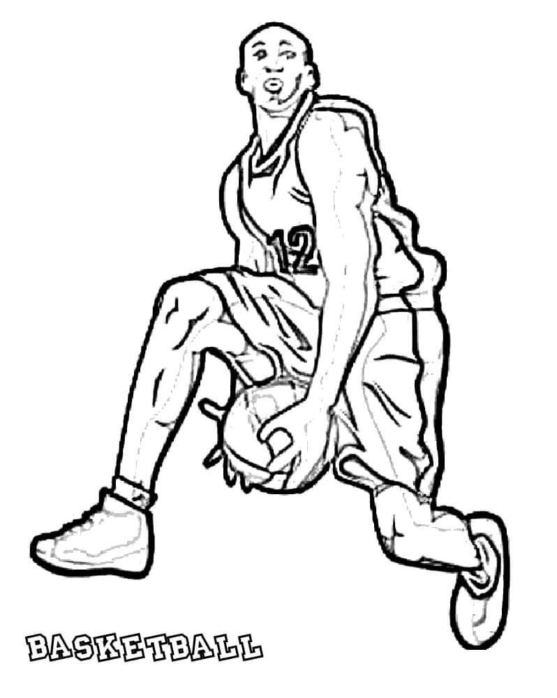 Desenhos de Jogador de Basquetebol para colorir