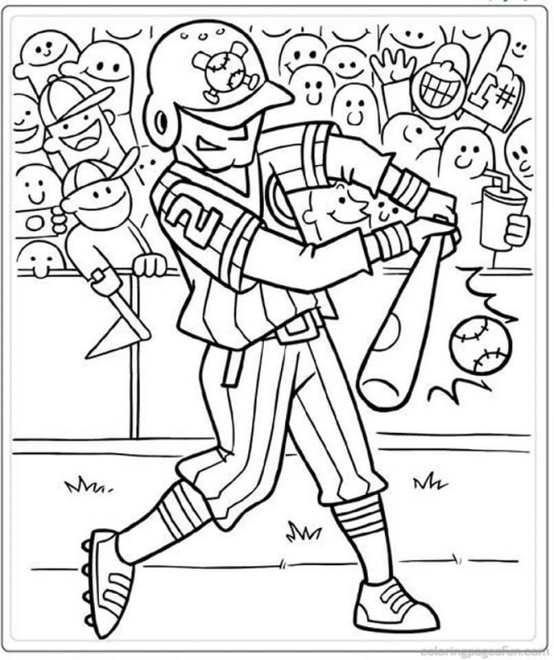 Desenhos de Jogador de Beisebol 1 para colorir