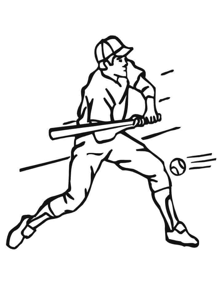 Desenhos de Jogador de Beisebol para colorir
