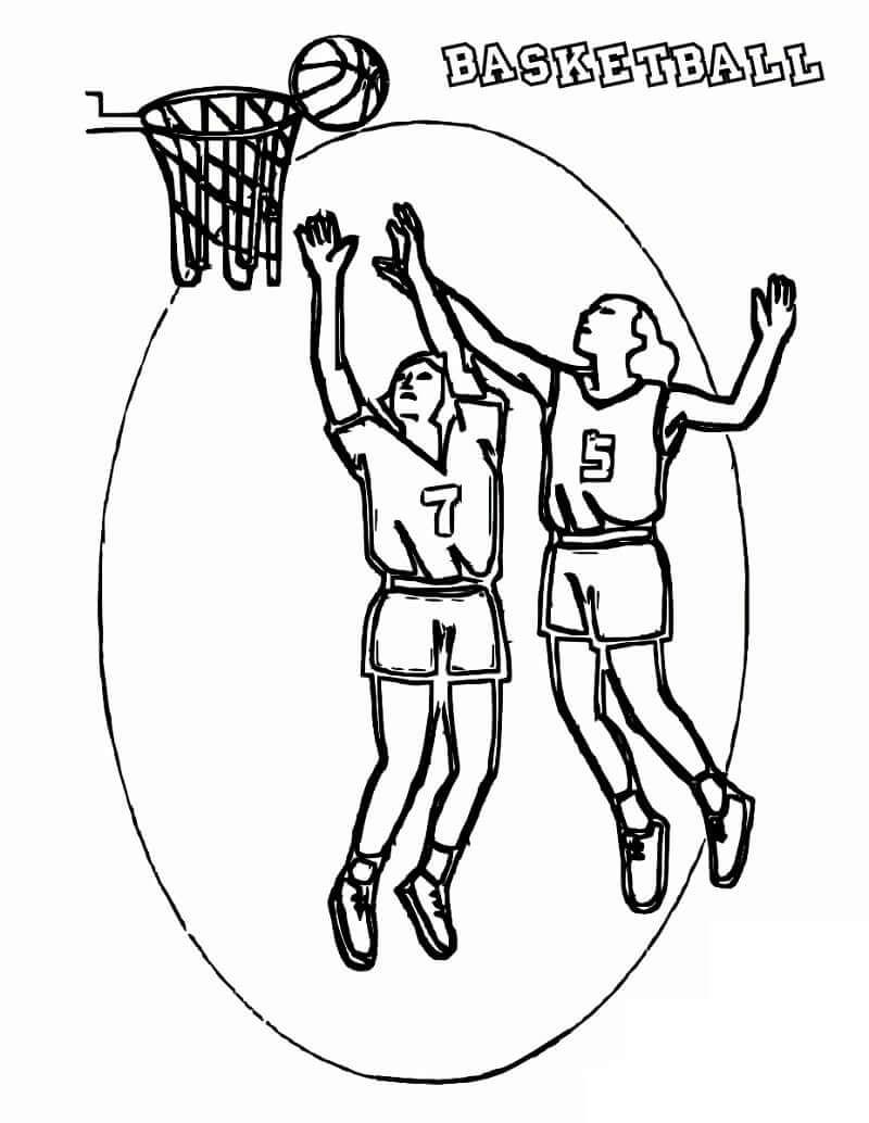 Desenhos de Jogadores de Basquetebol 1 para colorir