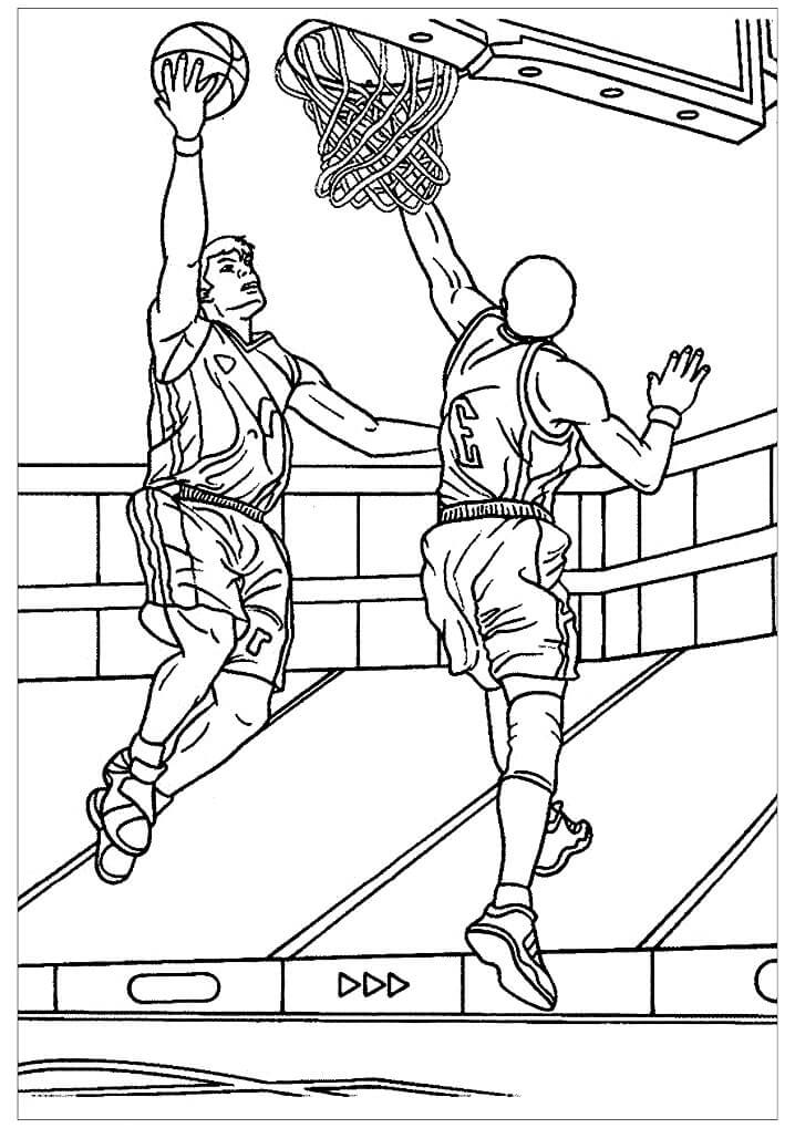 Desenhos de Jogadores de Basquetebol para colorir