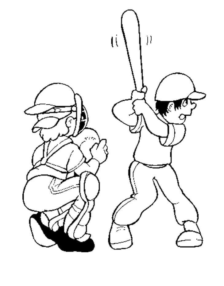 Desenhos de Jogadores de Beisebol para colorir
