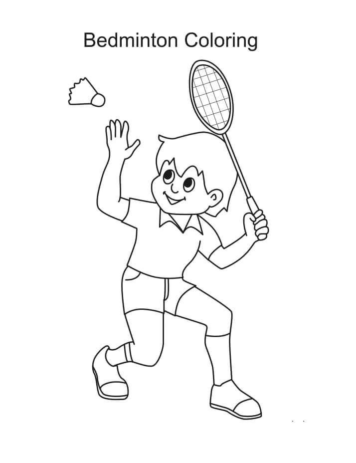 Desenhos de Jogando Badminton 2 para colorir