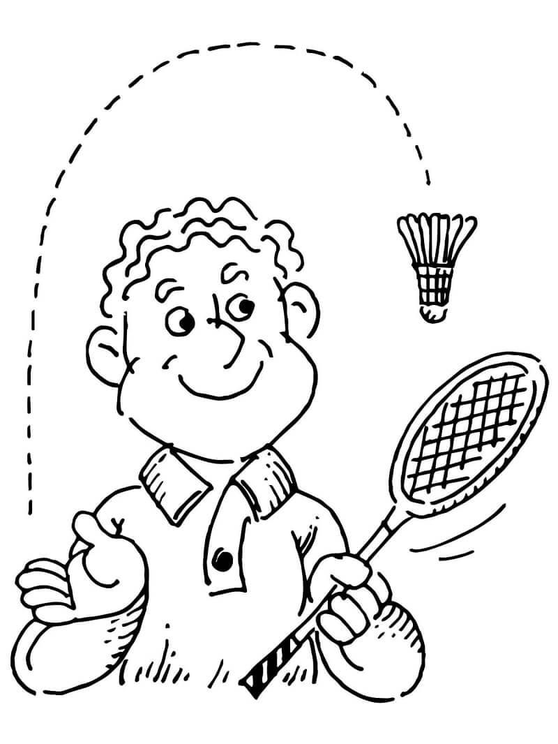 Desenhos de Jogando Badminton para colorir