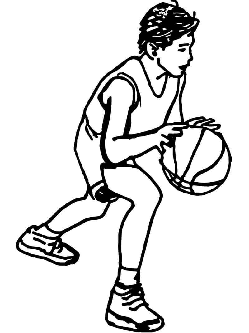 Desenhos de Jogando Basquetebol para colorir
