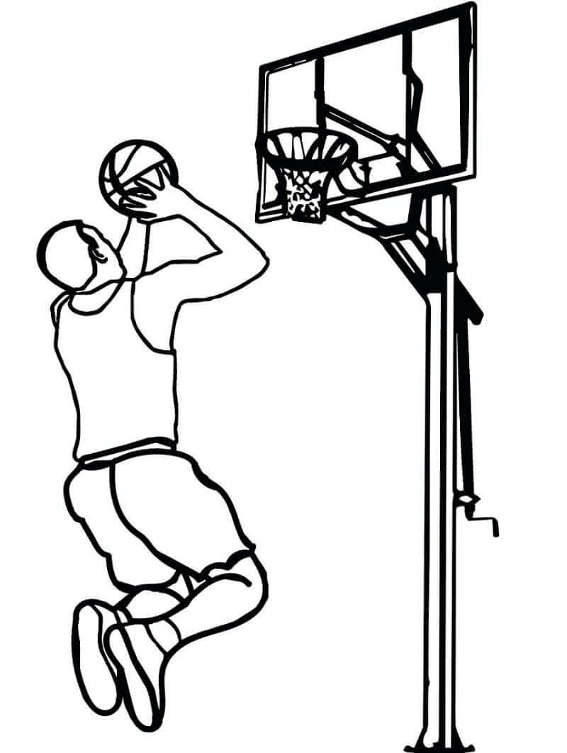 Desenhos de Jogar Basquete 1 para colorir